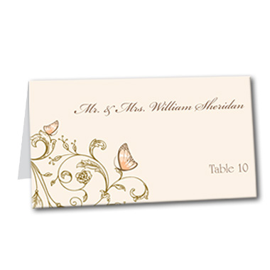 Resting Butterfly Table Card