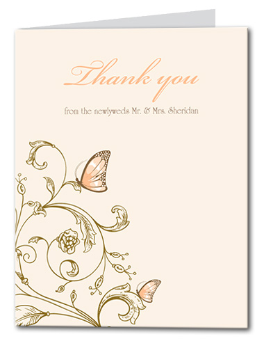 Resting Butterfly Thank You Card