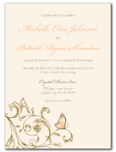 Resting Butterfly Wedding Invitation