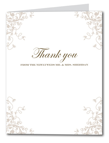 Romantic Flourish Thank You Card