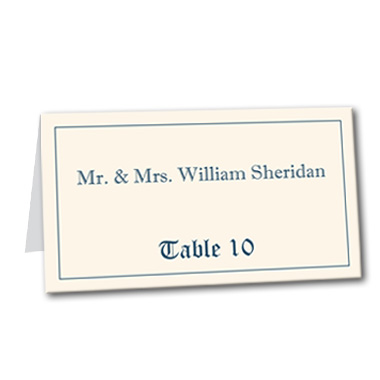 Royal Affair Table Card