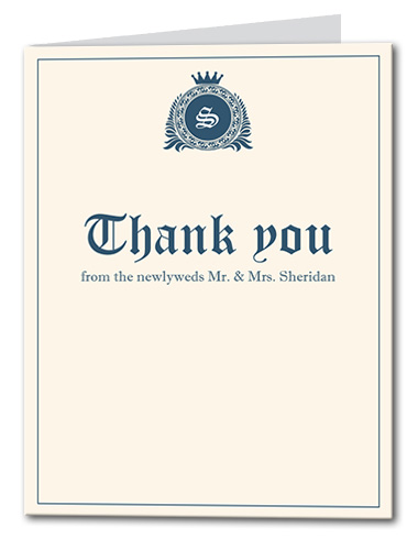 Royal Affair Thank You Card