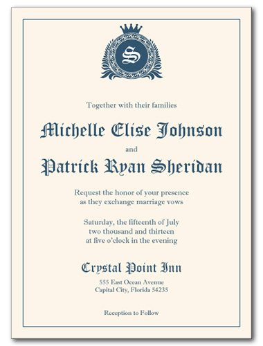 Royal Affair Wedding Invitation