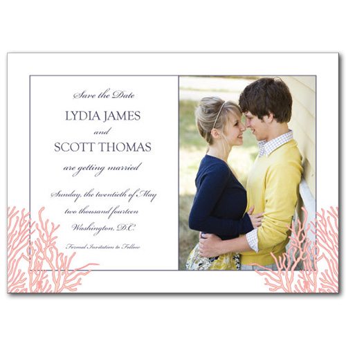 Royal Reef Save the Date Card
