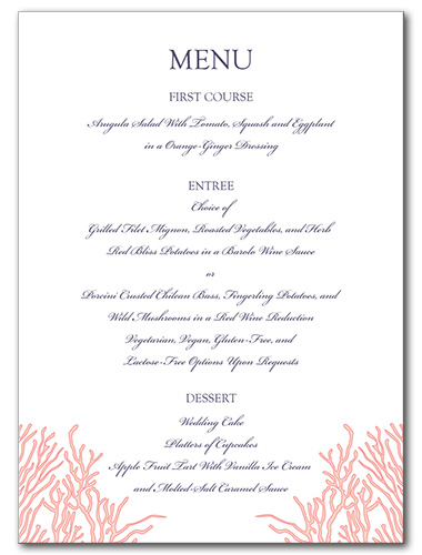 Royal Reef Menu