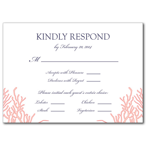 Royal Reef Response Card