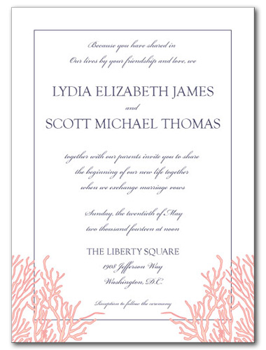 Royal Reef Wedding Invitation