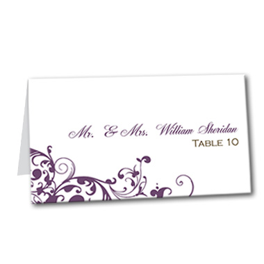 Royal Swirls Table Card