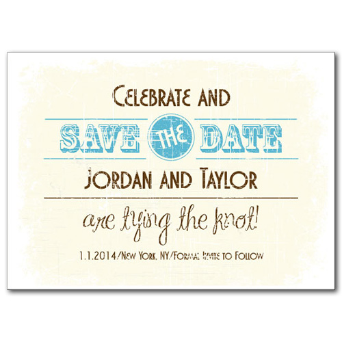 Rustic Fun Save the Date Card