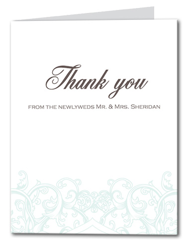 Rustic Swirl Thank You Card