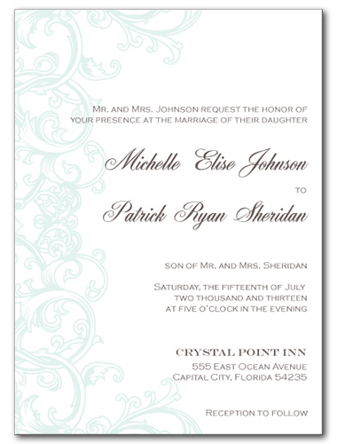 Rustic Swirl Wedding Invitation