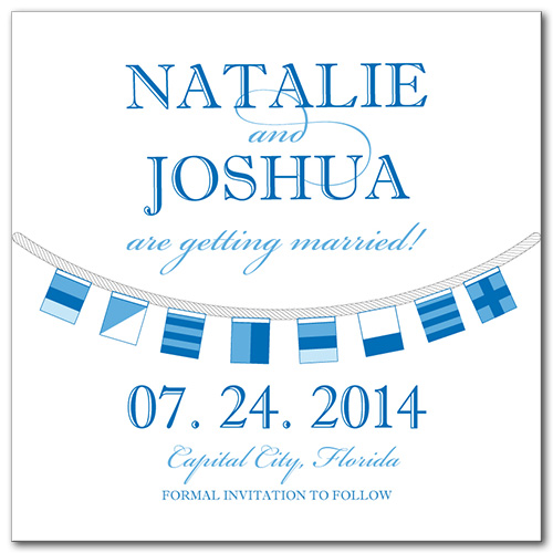 Sailor Savvy Square Save the Date Card