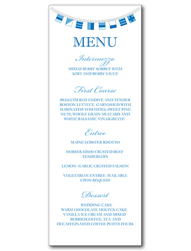 Sailor Savvy Menu