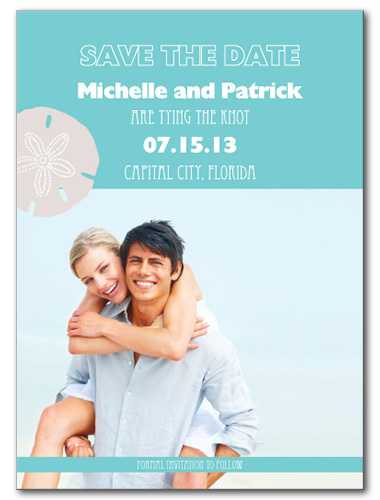 Sand Dollar Sweetness Save the Date Card