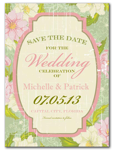 Seamingly Sage Save the Date Card