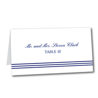 Seaside Style Table Card
