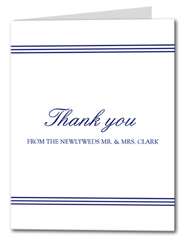 Seaside Style Thank You Card