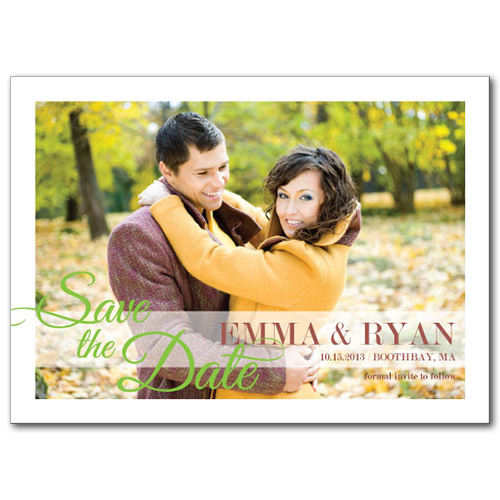 Sheer Love Save the Date Card