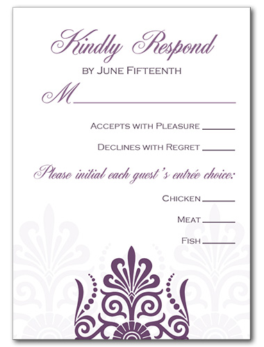 Sheer Plum Response Card