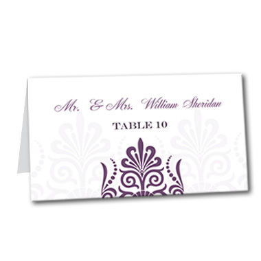 Sheer Plum Table Card