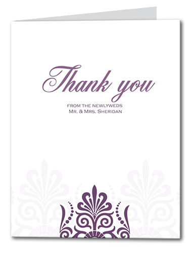 Sheer Plum Thank You Card