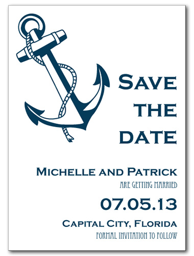 Shoreline Anchor Save the Date Card