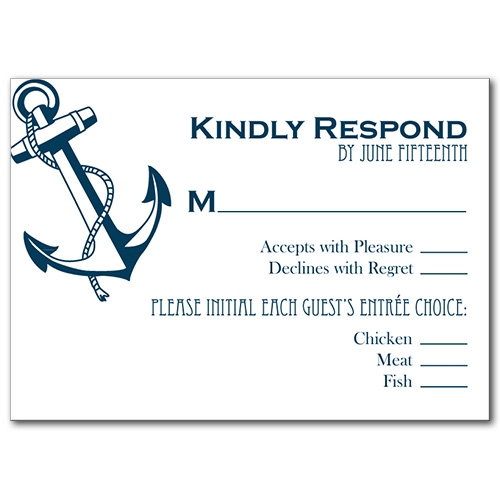 Shoreline Anchor Response Card