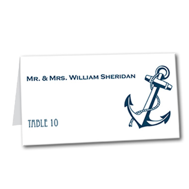 Shoreline Anchor Table Card