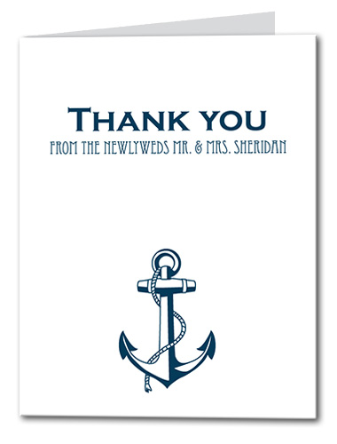 Shoreline Anchor Thank You Card