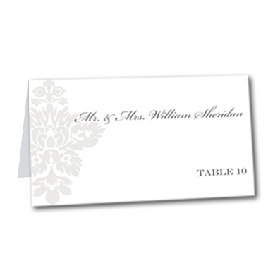Simple Damask Table Card