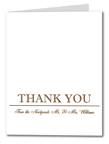 Simple Gold Thank You Card