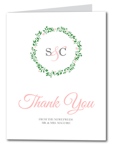 Simple Wreath Thank You Card