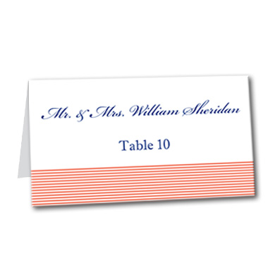 Simplistic Shore Table Card