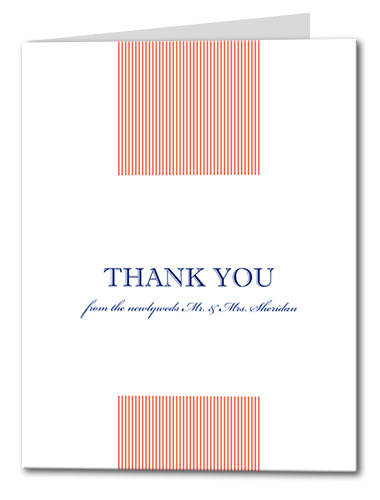 Simplistic Shore Thank You Card