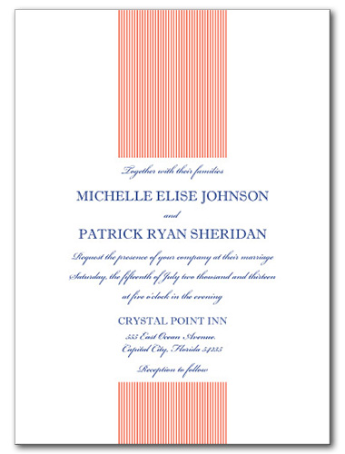 Simplistic Shore Wedding Invitation