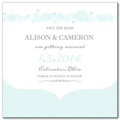 Simply Serene Square Save the Date Card