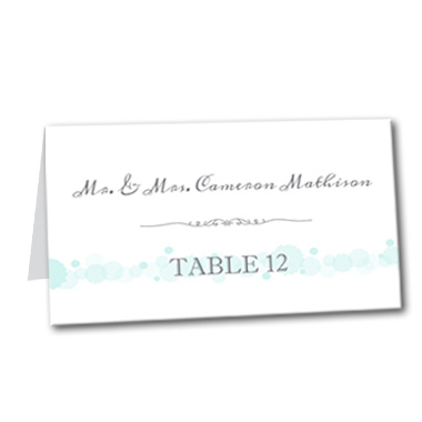 Simply Serene Table Card