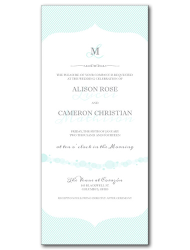 Simply Serene Wedding Invitation
