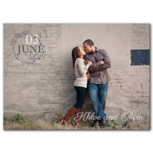 Simply Stamped Save the Date Card