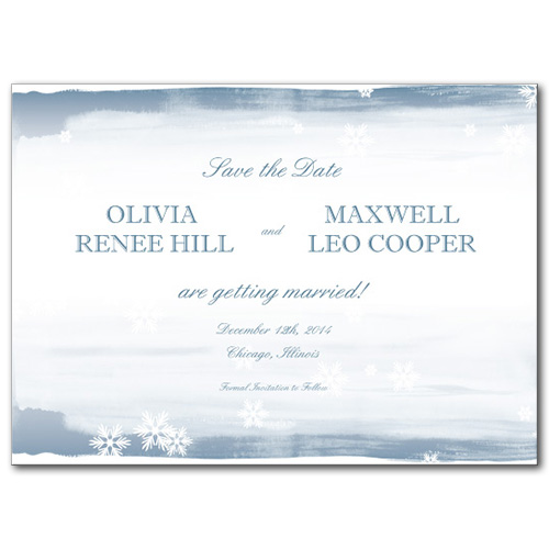 Snow in Love Save the Date Card