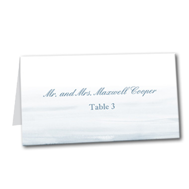 Snow in Love Table Card