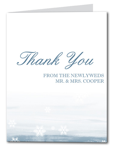 Snow in Love Thank You Card