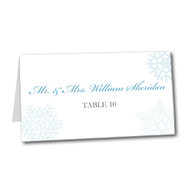 Snow Wonder Table Card