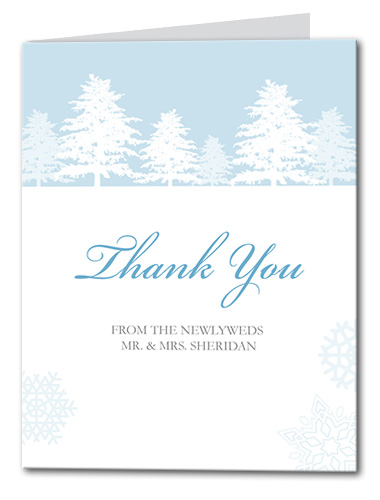 Snow Wonder Thank You Card