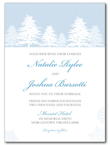 Snow Wonder Wedding Invitation