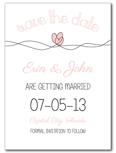 Soaring Hearts Save the Date Card