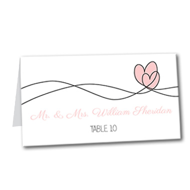 Soaring Hearts Table Card