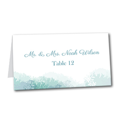 Soft Sea Table Card