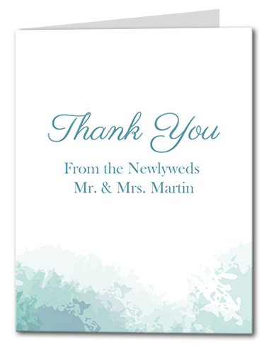 Soft Sea Thank You Card