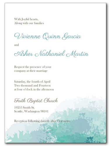 Soft Sea Wedding Invitation